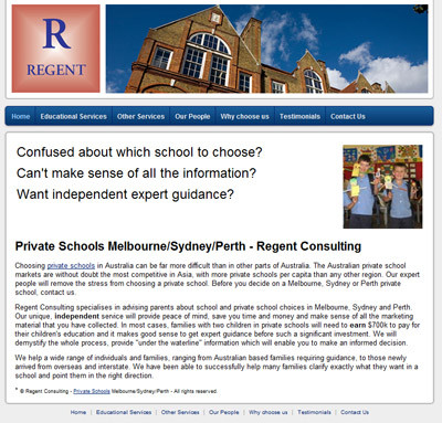 Regent Consulting - Best Private Schools Sydney Perth Melbourne Consulting Services - Education Melbourne