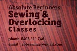 Absolute Beginners Sewing and Overlocking Classes - Education Melbourne