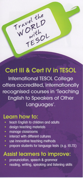 International TESOL College - Education Melbourne